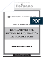Reglamento del Sistema de Liquidación de Valores BCRP