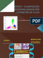 CITOMETRIA DE FLUJO EN EL DIAGNOSTICO Y CLASIFICACION DE LEUCEMIAS AGUDAS.ppt