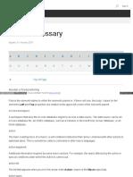 Access Glossary