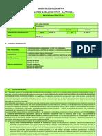 Programación Anual de Matemática 2 017