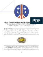 Aliens Colonial Marines for Savage Worlds