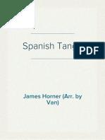 James Horner - Spanish Tango (Arr. by Van) - Piano Sheets