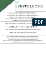 Words That Liberate   Vestoj
