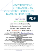 SHANA INTERNATIONL SCHOOL BIKANER – AN INNOVATIVE SCHOOL BY KAMLESH CHANDRA