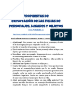 Propuestas de Explotación de Las Fichas de Personajes, Lugares y Objetos