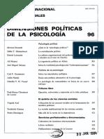 Dimensiones Políticas de La Psicología