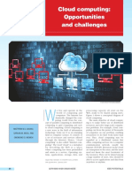 Cloud computing Opportunities and challenges