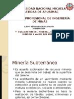 Evaluacion Del Minerl( Subterranea)