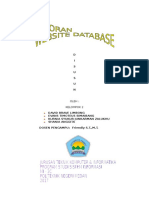 Laporan Tugas Proyek Website Database