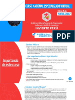 Curso Nacional Especializado VIRTUAL INVIERTE PERÚ