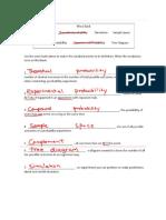 probability test study guide key