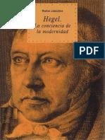 Jaeschke Hegel La Conciencia de La Modernidad
