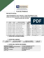 Plan de Trabajo-convento Santa Rosa de Ocopa