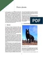 Información Raza Perro Pastor Alemán