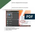 IRL - NTRsupportPro - Procédure Changement de mot de passe