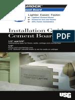 Durock Cement Board Installation Guide en CB237