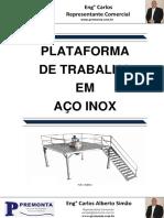 Plataformas de Trabalho Em Aço Inox