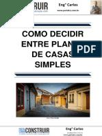 Como Decidir Entre Planta de Casas Simples