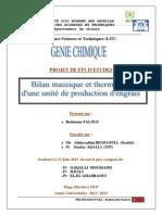 Bilan Massique Et Thermique d' - FALOUS Redouane_917