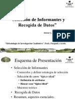De Armas, H. (2006). Selección de Informantes y Recogida de Datos.