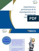 Capitulo 1 Resumen Importancia y Pertinencia de La Investigación en La Sociedad Del Conocimiento