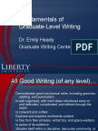 Fundamentals of Grad Std Writing, Counseling