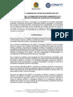 CONACYT-Gobierno Del Estado de Quintana Roo 2017