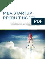 TransparentCareer MBA Startup Recruiting Guide