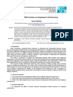 Article 03 Impact of HRM Practices on Employees Performance