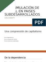 La Acumulación de Capital en Paises Subdesarrollados
