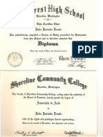 Jade Lauw High School & Shoreline Community College  Diploma  and Associate Art Degree 2016