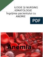 Hematologie Și Nursing În Hematologie- Anemia
