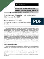 Francisco DeMiranda Y Su Expedicion Libertadora De1806