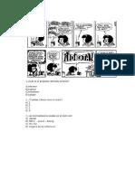 Prueba de Lenguaje Historietas, Uso h, x y Hiato