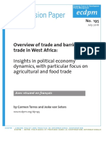 DP195 Overview Trade Barriers West Africa Torres Seters July 2016