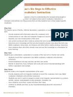 Marzano's Six Steps to Effective Vocabulary Instruction (1)