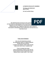Authentication in Art Congress May 2014 Recommendations of Art and Law Work Group Official Release