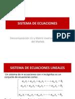 Sist EcuacionesLineal