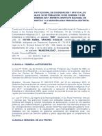 Modelo de Convenio Interinstitucional Inei y Municipalidad