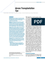 Amniotic Membrane Transplantation in the Human Eye