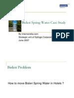 Bisleri Spring Water Case Study.www.Internsindia