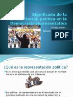 Significado de la representación política en la Democracia.pptx
