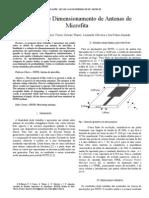 Redução de Dimensionamento de Antenas de Microfita