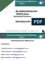 Introduccion GNU-Linux Nivel I-Distancia