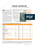 CUSTO COMPARADO Drywall x Bloco Cerâmico