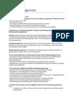 Projektmanagement Zusammenfassung MSM14