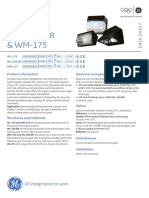WL175 WL250BR and WM175 Outdoor Luminaires Data Sheet en Tcm181-12693