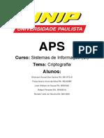 APS UNIP de Criptografia