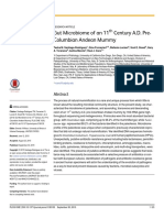 Gut Microbiome of an 11th Century a.D. PreColumbian
