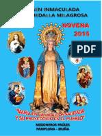 Novena Milagrosa Pamplona 2015.